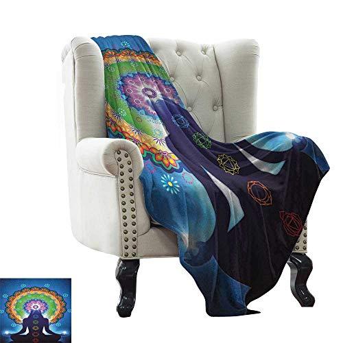 BelleAckerman - Manta con diseño celta, diseño de flor, con motivos florales y estampado de tréboles, color gris colorido   hogar, sofá, exteriores, uso de viaje, poliéster, color 12, 60'x62' Inch