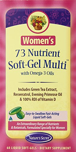 Natures Secret Womens 73 Nutrient Soft Gel Multi With Omega 3 Oils