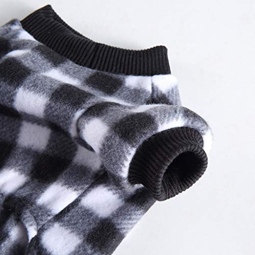 Muium(TM) - Pijama para mascotas de algodn suave y clido para mascotas pequeas y medianas (XL, negro)