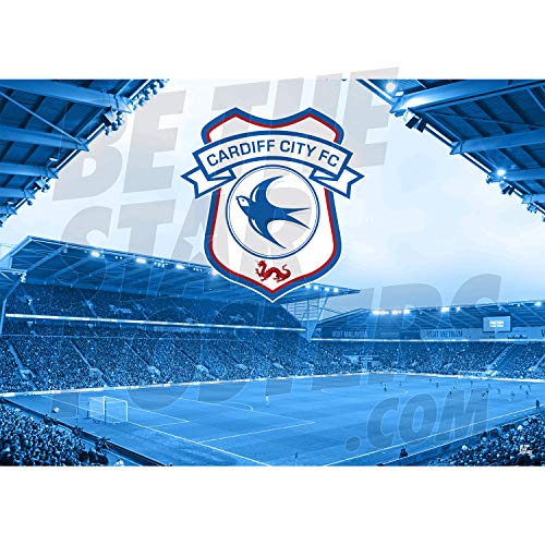 Be The Star Posters Cardiff City FC 2019/20 Cardiff City Stadium A3 Football Poster/Print/Wall Art - Officially Licensed Product - Available in Sizes A3 & A2 (A3), Blue