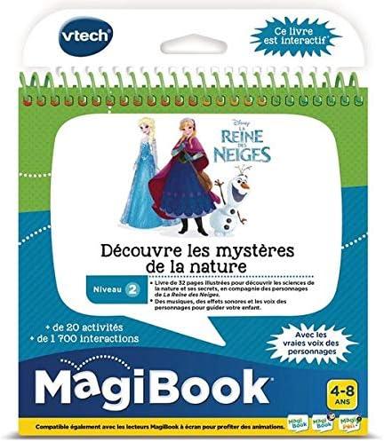 VTech - Livre MagiBook - La Reine des Neiges - Découvre les mystères de la nature, livre éducatif – Version FR
