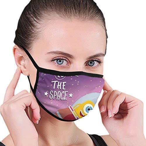 Gesichtsbedeckungen, bequem Winddicht, einladender Zitatdruck mit Retro-Maskottchen Vel Reisen in der Milchstraße, gedruckte Gesichtsdekorationen für Erwachsene