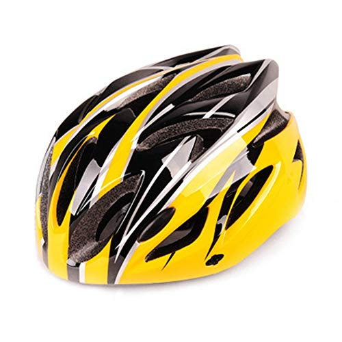 LANKOULI Helm Skaterhelm Damen Jungs Scooter Roller Herren Sport Helm für Männer Frauen Unisex Active Fahrradhelm Race Skate (Schwarz und Gelb)