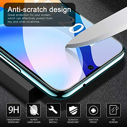 Leathlux Huawei P Smart 2021 Hülle + [3 Stück] Panzerglas, Durchsichtig Case Transparent Silikon TPU Schutzhülle Premium 9H Gehärtetes Glas für Huawei P Smart 2021