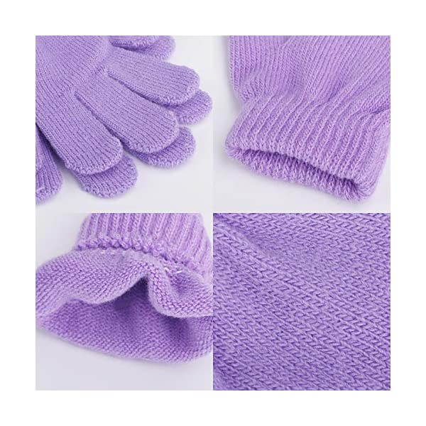 Horalah 16 Pairs Kids Gloves Warm Magic Winter Stretchy Knit Gloves for Boys Girls Toddlers Teens Children Gifts