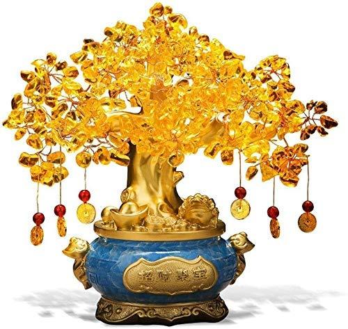 Wykwintne akcesoria do domu cytryn pieniądze drzewo chiński Reiki kamień dekoracja dla bogactwa i szczęścia dom biuro biurko parapetówka dekoracja prezent uzdrawianie dekoracyjny kryształ bonsai akcesoria/rzeźba