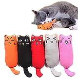 Juguetes felpa para gatos con hierba gatera paquete de 5 para rascar el gato jugar masticar limpiar los diente almohada creativa rascar mascota gato morder los dientee moler masticar dibujos animados