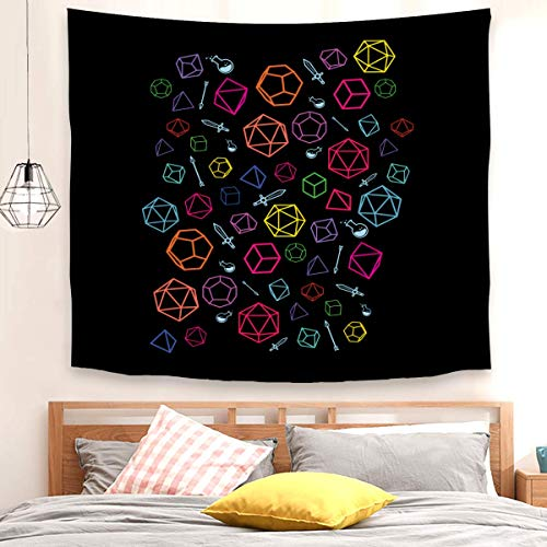 Dice Pattern Decorative Wall Tapestry for Bedroom Living Room Outdoor (150x200cm)