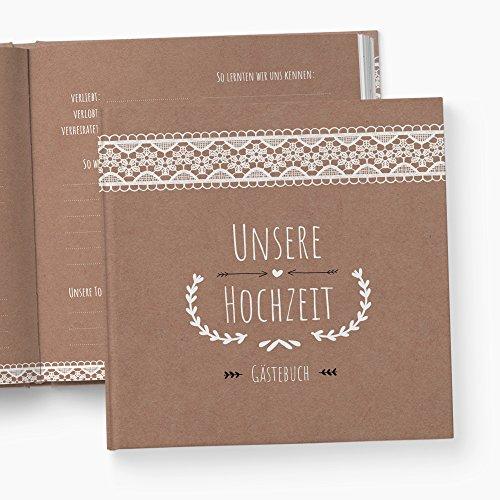glupspilz | Gästebuch Hochzeit | mit Fragen zum Ausfüllen | Vintage