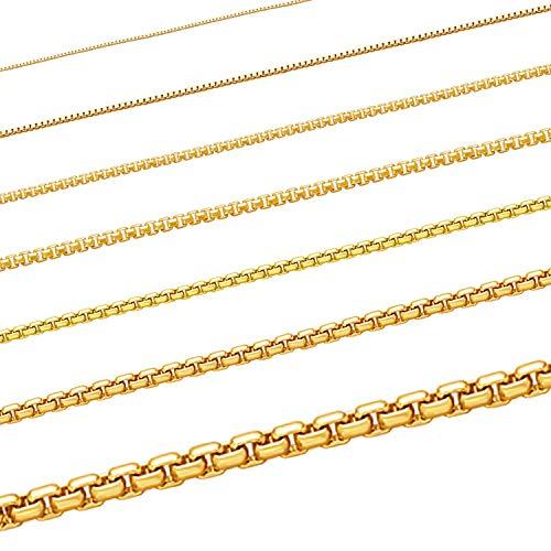 Massive edle Goldkette Venezianerkettet Halskette Collier Echt 333 Gold Juwelier Qualität (55, 1.2 mm)