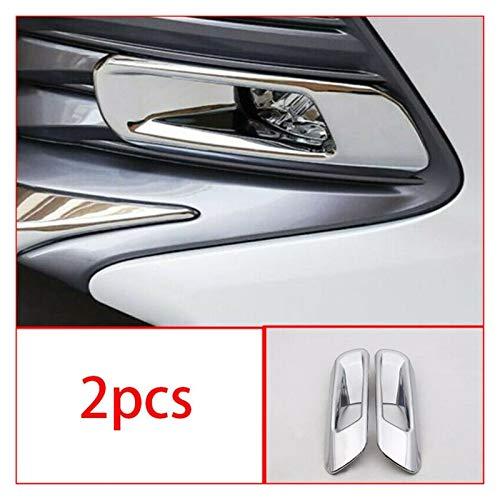 WeiYang Ajuste para Toyota Camry 2018-2020 ABS Cromo Exterior FRONTE Fog FROP Light FRATT RIND (Color : Silver)