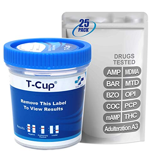 Review Of MiCare [25pk] - 10-Panel Multi Drug Test Cup (AMP/BAR/BZO/COC/mAMP/MDMA/MTD/OPI/PCP/THC wi...