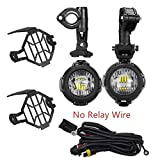 LED de luz Diurna Con Protect Guardia parachoques LED de conducción Niebla luz de cruce for R1200GS F800GS 40W universal de la motocicleta LED de luz auxiliar (Color : Whole Set A)