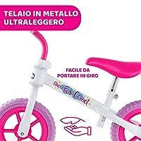 Chicco Pink Comet Bicicletta Bambini Senza Pedali 2-5 Anni, Bici Senza Pedali Balance Bike per l'Equilibrio, con Manubrio e Sellino Regolabili, Max 25 Kg, Rosa, Giochi Bambini 2-5 Anni #6