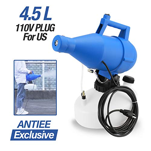 ANTIEE 4.5L Electric ULV Sprayer Portable Fogger Machine, Electric Atomizer for Home, Office, Industrial, School, Including Indoor and Outdoor