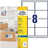 Avery Zweckform J8165-25, 25 fogli, Etichette indirizzi per buste formato C4/C5, 99,1 x 67,7 mm