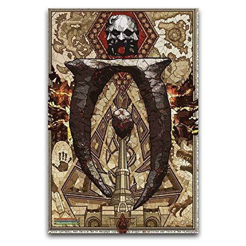 Póster decorativo de The Elder Scrolls IV Oblivion - Lienzo decorativo para pared, diseño de la sala de estar, 40 x 60 cm