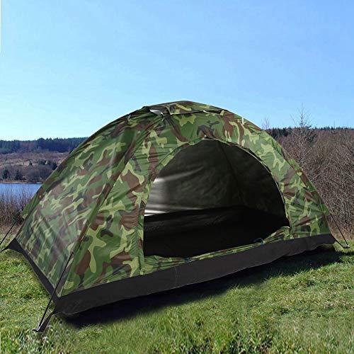Keenso Caming Tarnzelt Set, Outdoor Camouflage UV-Schutz wasserdicht EIN-Personen-Zelt für Camping Wandern & eine Aufbewahrungstasche