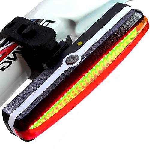 Tlyd La luz de la Cola de Carga de la Bicicleta con 2 Luces de Bicicleta LED súper Brillante, la luz de la Cola USB es fácil de Instalar Impermeable para Cualquier Bicicleta de Carretera