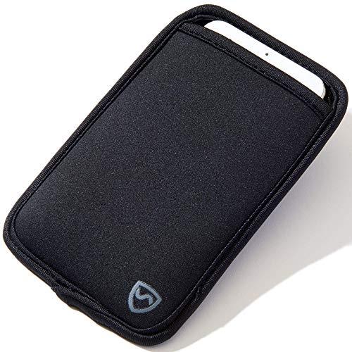 SYB Handytasche, Neopren EMF Schutzhülle für Handys bis zu 7 cm (2,75 Zoll) breit, schwarz