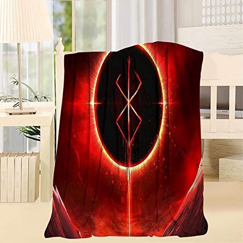 2183 Berserk Demon Throw Mantas, 3D Impresión Artwork Super Soft Fluffy Warm Solid para Cama Sofá Manta de Microfibra