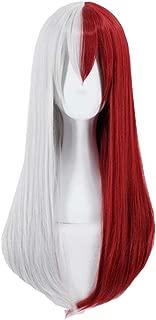 Kadiya Long Straight Silver & Red Girl Crossplay Hero Character Play Cosplay Costume Wig Anime Performance Wigs