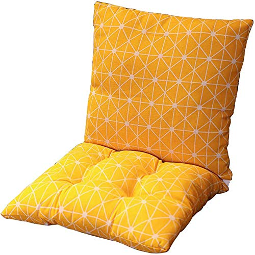 Thick Printed Chair Cushion Square Seat Pad Back Cushion One-piece Style Seat Mat, Soft Breathable for Office Dining Classroom Garden Outdoor,A