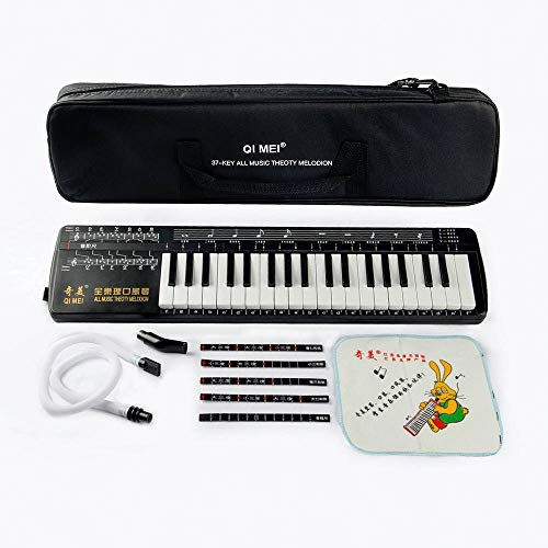 QiMei All Music Theoty Melodion 37 keyboard Professional Melodica Harmonica Playing Musical Instruments