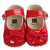 Zhen+zhen Babyschuhe PU-Leder Lauflernschuhe - Antirutsch Krippeschuhe Kinderschuhe, Unisex-Baby Mädchen Junge Princess Kleinkind Schuhe Krabbelschuhe Wanderschuhe für 0-18Monate