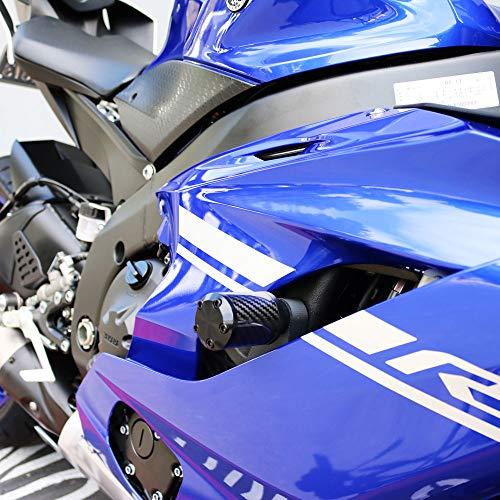 Shogun Yamaha YZF-R6 R6 2017 2018 2019 2020 NO CUT CS5 Carbon Fiber Frame Sliders Fits ABS & NON ABS Models - 710-6229 - MADE IN THE USA