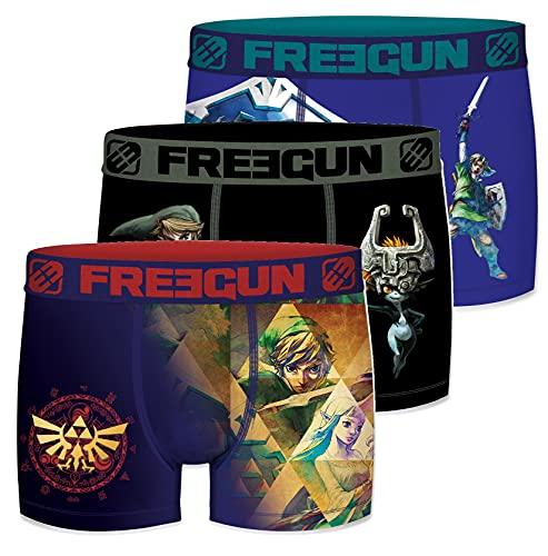 Freegun Herren-Boxershorts, Mikrofaser, Zelda Gr. L, Ass1