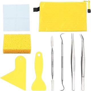 SPEEDWOX Lot de 9 outils et fournitures pour mosaïque pour débutants 2 racleurs 2 pinces 1 crochet à double extrémité 1 sp...