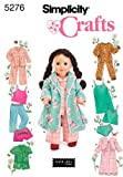 Simplicity Crafts 5276 Baby Doll Pajamas Clothing Sewing Pattern for Girls by Andrea Schewe, Size 18''