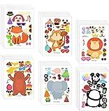 Pegatinas de Animals Pegatinas de Hacer un Animal Haga sus Propias Pegatinas de Animales para Niños Fiesta de Cumpleaños Favores Manualidades