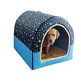 QYJpB 2 In 1 Haustier Haus Und Sofa, Große Hundehütte Abnehmbar Und Waschbar Haustier Nest Medium Hund Hundehütte Indoor Und Outdoor Net Rote Katzenhaus - Pet Nest (Farbe : Blau, größe : XL)