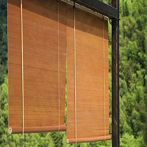 JLXJ Hogar y Cocina Cortinas de Bambú Marrón Oscuro, Gran Patio Pérgola Exterior Parasol con Gancho, 60cm / 80cm / 100cm / 120cm / 140cm / 160cm de Ancho (Size : 120×250cm)