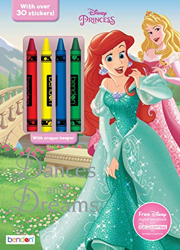 Disney Princess 48-Page Coloring & Activity Book with 4 Crayons, 44048 Bendon
