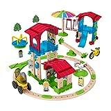 Fisher-Price GGV82 - Wunder Werker Holzspielzeug Schule mit Spielplatz Spielset aus FSC zertifiziertem Holz, Spielzeug ab 3 Jahren