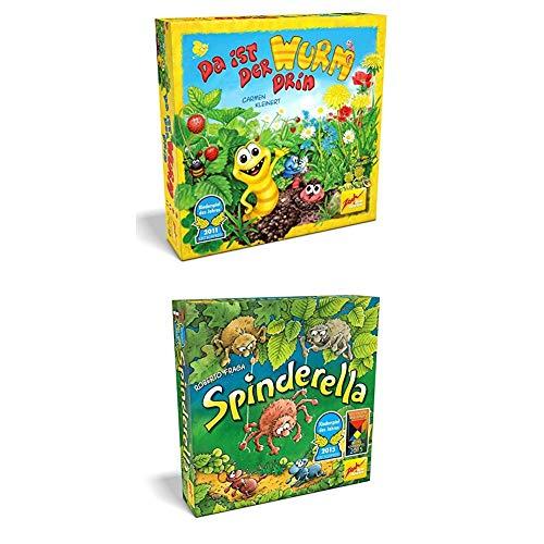 Noris Spiele Zoch 601132100 - Da ist der Wurm drin, Kinderspiel des Jahres 2011 + Spinderella Aktions und Geschicklichkeitsspiele, Kinderspiel des Jahres 2015