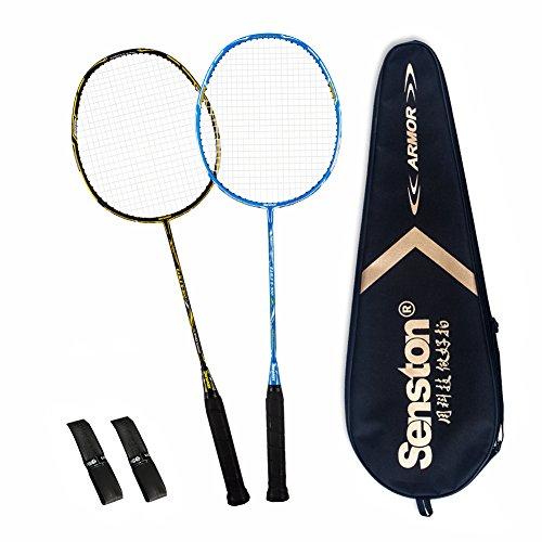 Senston S300 Carbon Badmintonschläger Set Graphit Badminton Schläger mit Schlägertasche