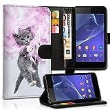 wicostar Book Style Alcatel One Touch Go Play 7048X Premium PU-Leder Tasche Flip Brieftasche Handy Hülle Kartenfächer mit Standfunktion für Alcatel One Touch Go Play 7048X - Design Flip MVC102