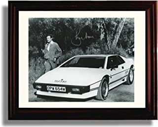 Framed Roger Moore Autograph Replica Print - James Bond