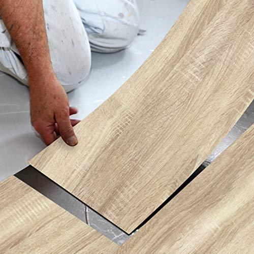 Enipate Selbstklebende Bodenfliesen-Aufkleber, wasserdicht, PVC, für Badezimmer, Küche und alle flachen Böden, 20 x 300 cm