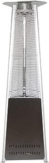 Hiland HLDS01-MGTHG Quartz Glass Tube Patio Heater w/Wheels, 40,000 BTU, Pyramid, Hammered Bronze