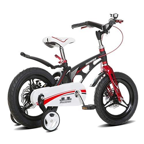 bicicleta Ciclismo de Carretera 12 de los niños niño montaña Equilibrio del Coche 14' Chica Asientos en la Cesta (Color : Black, Size : 12inches)