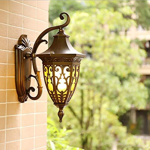 Gegoten Aluminium Buitenwandlamp, Bruine Retro Waterdichte Verlichtingsarmatuur, Gebruikt Om Huis, Binnenplaats, Gangpad Nachtverlichting (exclusief Lichtbron) Te Versieren
