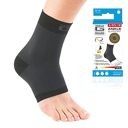 Neo G Ankle Support - For Arthritis, Joint Pain, Sprains, Strains, Ankle Injury, Recovery, Rehab, Sports, Basketball - Multi Zone Compression Sleeve - Airflow - Class 1 Medical Device - Medium - Black