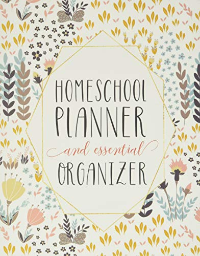 Mega Homeschool Planner and Organizer Soft Flora: Fully Customizable Planner, Organizer, and Record