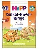 Hipp Bio Knabberprodukte Dinkel-Hafer Ringe, 7er Pack (7 x 30 g)