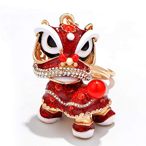 Lnlyin Kirin Llavero chino de la suerte colgante monedero decoración colgante vintage llavero